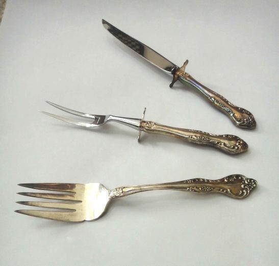 lot reed barton silverplate flatware wisteria